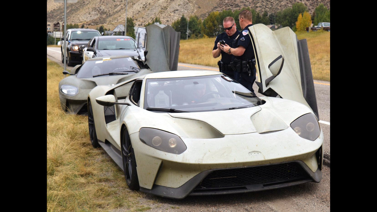 Ford GT prototype stopped by police