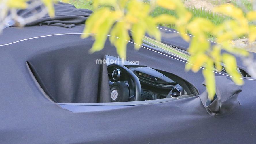 McLaren P14 spied with simplified instrument cluster