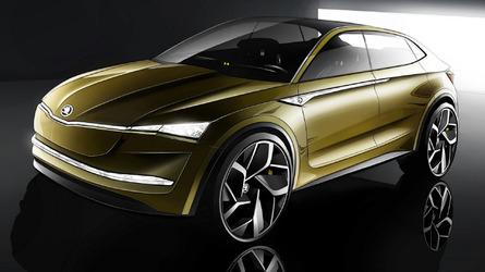 Skoda Vision E Concept Signals Electric, Coupe-SUV Agenda