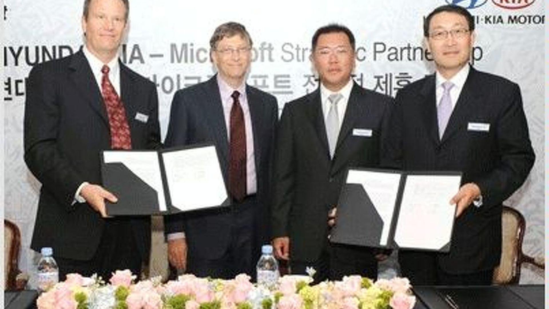 Hyundai-Kia and Microsoft to Develop Next Gen In-Car Infotainment