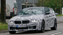 2017 BMW M5 spied with production lights