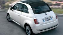 Open-Top Fiat 500 C Headed for Geneva