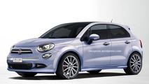 Fiat 500 Plus rendered as a Punto successor