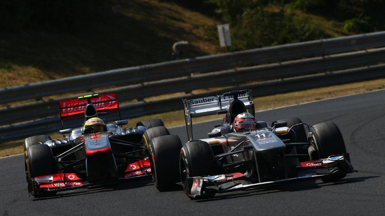 Sergio Perez and Nico Hulkenberg 28.07.2013 Hungarian Grand Prix