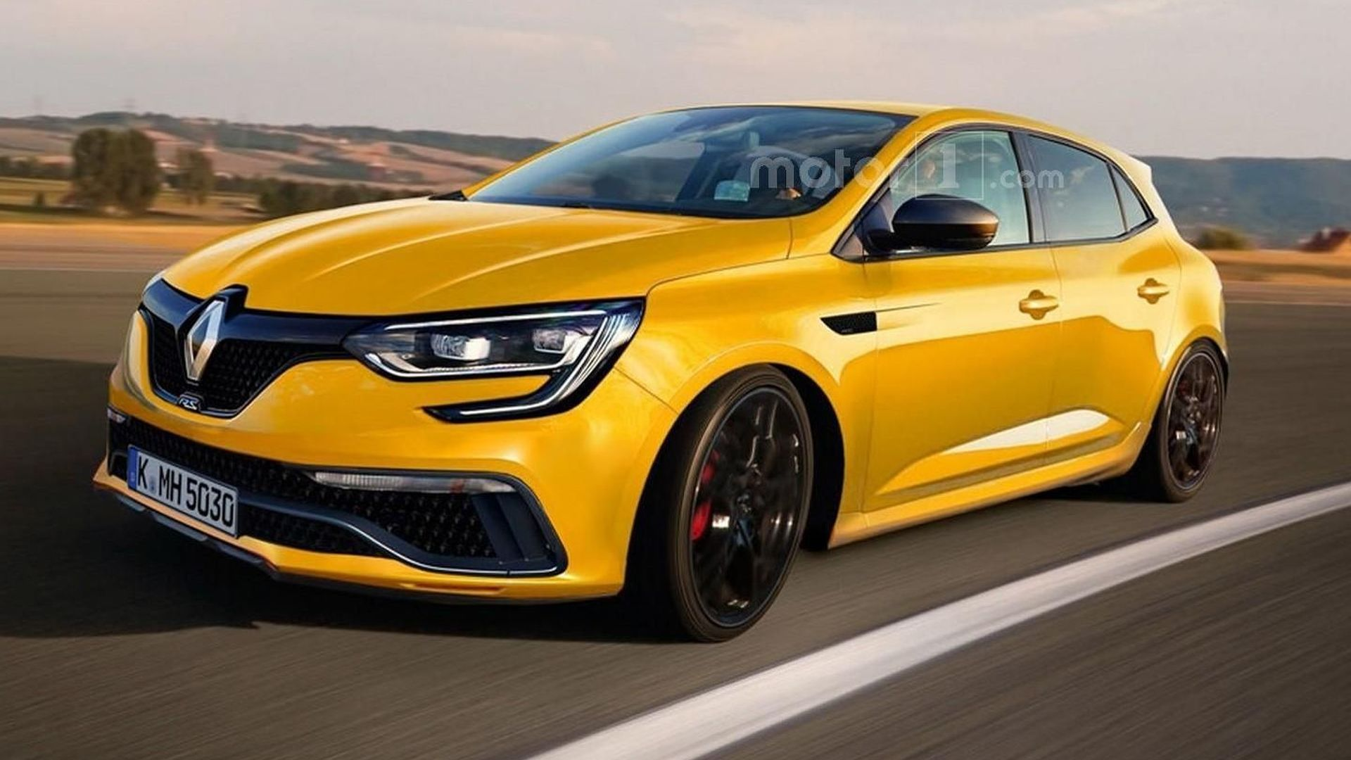 2017 Renault Megane RS render sees into the future