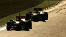 Four drivers beat Webber's Thursday best before lunch