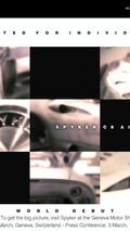 Spyker C8 Aileron Production Version Teaser Released - Debut in Geneva