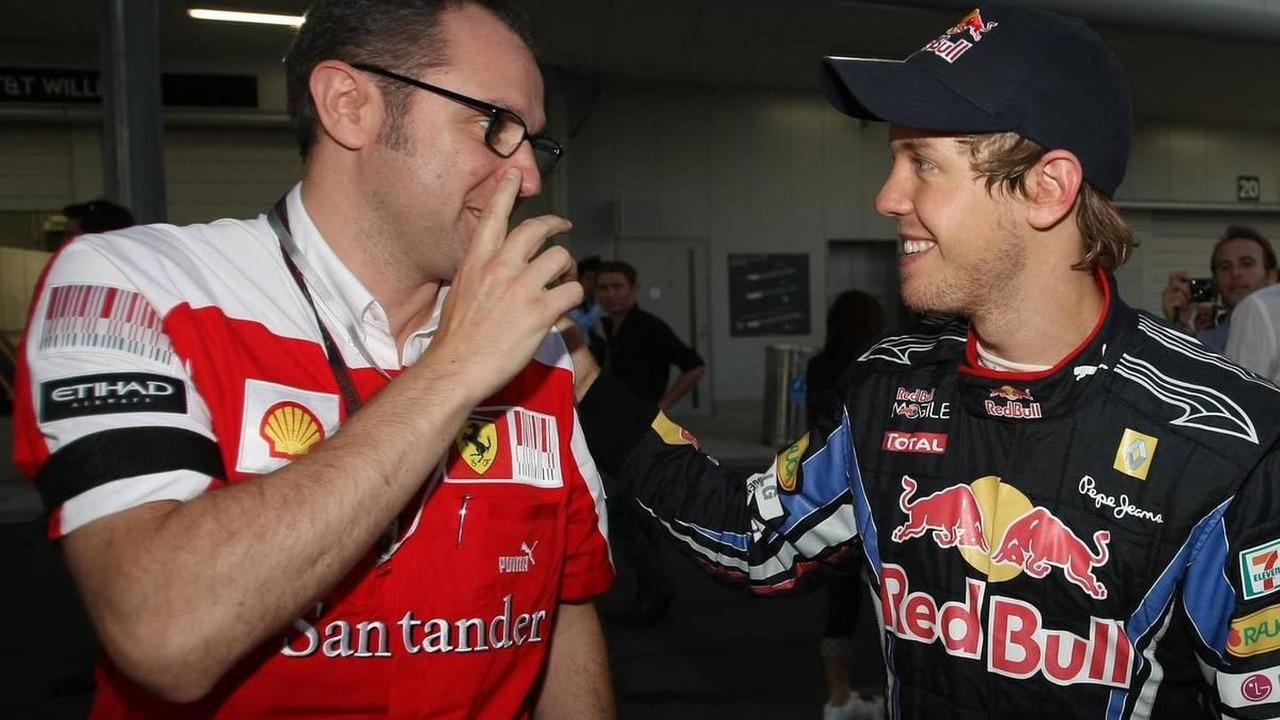 Stefano Domenicali (ITA), Scuderia Ferrari Sporting Director and Sebastian Vettel (GER), Red Bull Racing - Formula 1 World Championship, Rd 16, Japanese Grand Prix, 10.10.2010 Suzuka, Japan