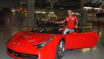 Felipe Massa and Stefano Domenicali in Maranello posing with Ferrari 458 Italia, 05.10.2009