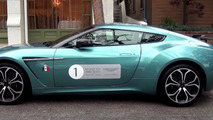 Rare Aston Martin V12 Zagato painted in Alba Blue filmed up close