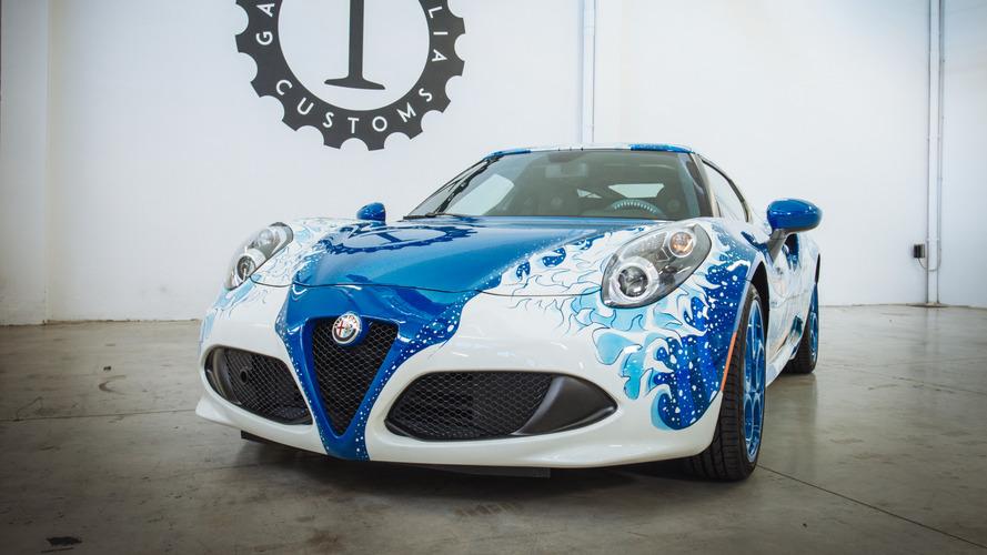 Alfa Romeo 4C Hokusai features air-brushed Japanese art