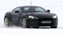 Aston Martin DB9 successor spied testing undisguised