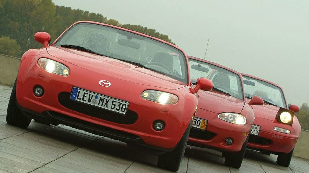 3 Generations of Mazda MX-5