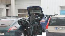 Porsche Panamera Spied with Open Doors and Boot