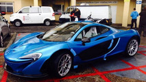 McLaren P1 with SLR Blue paint arrives to client in Gibraltar
