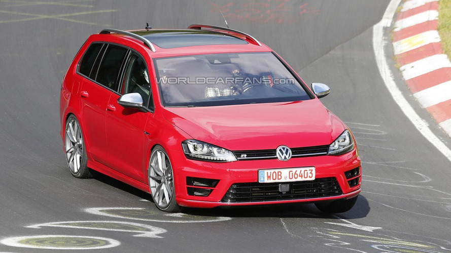 Volkswagen Golf R Variant spied in production trim at the Nurburgring