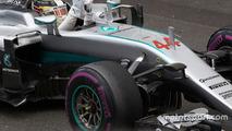 Race winner Lewis Hamilton, Mercedes AMG F1 W07 Hybrid celebrates in parc ferme