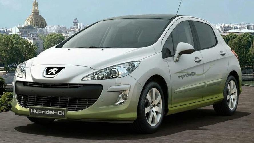 Peugeot 308 diesel hybrid for 2010