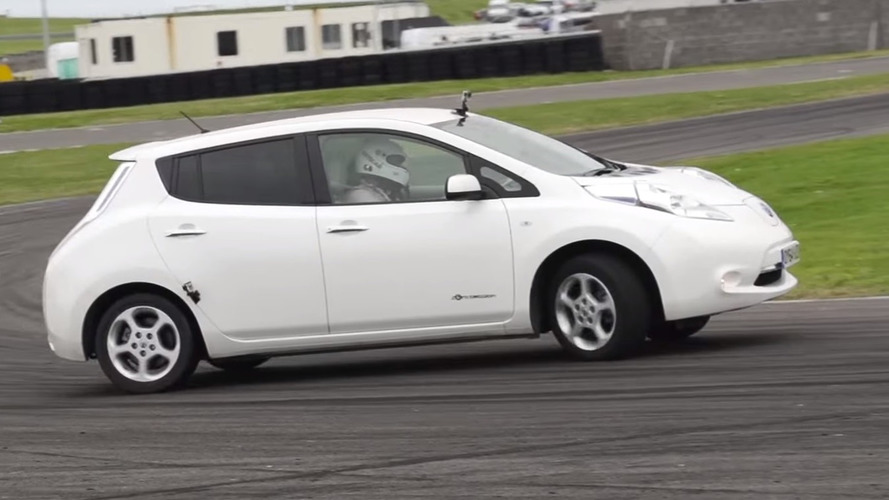 In the name of drift: Nissan Leaf gets rear plastic tires