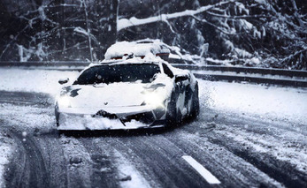 Pro Skier Jon Olssen Gets Rowdy in the Snow With Custom Lambo