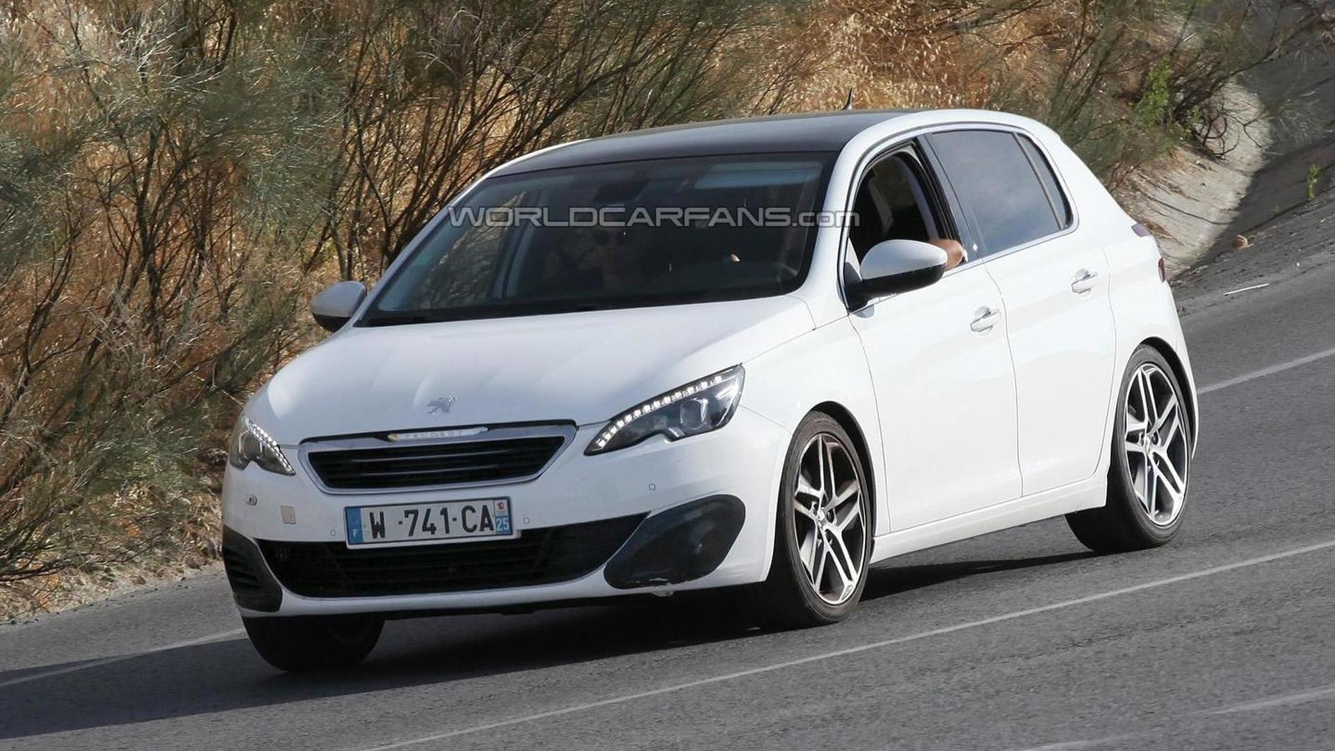 2014 peugeot 308 gti spied for the first time. Black Bedroom Furniture Sets. Home Design Ideas