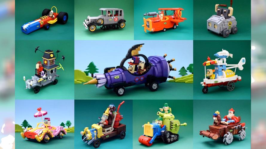 Corrida Maluca volta à vida com blocos de Lego