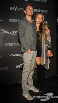 Jenson Button and Jessica Michibata