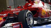 The Ferrari F14-T of Fernando Alonso, Ferrari in parc ferme