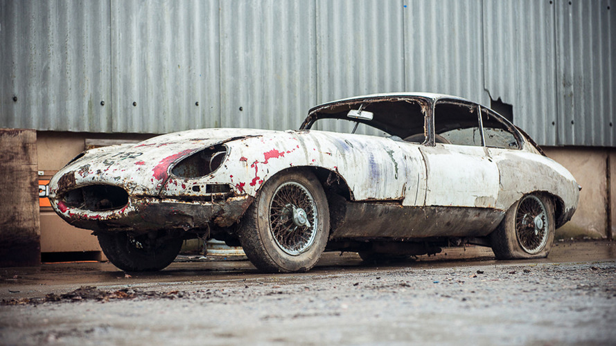 Decaying Jaguar E-Type barn find wants $54,000 at auction