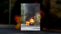 Tesla Model S spontaneously catches fires during promo tour