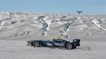 Formula E car on the Arctic Circle