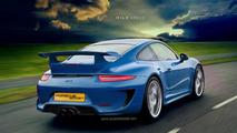 2014 Porsche 911 (991) GT3 artist rendering
