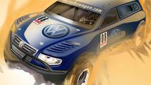 Purpose-Built Volkswagen-Red Bull Baja Race Touareg TDI Trophy Truck Heading for L.A.
