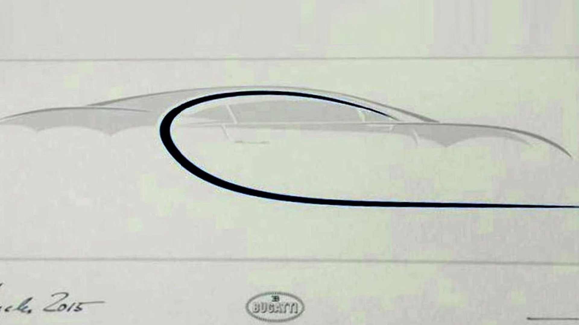 Bugatti Chiron allegedly teased to prospective buyers
