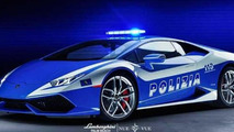 Lamborghini Palm Beach dresses up Huracan with Polizia livery [video]