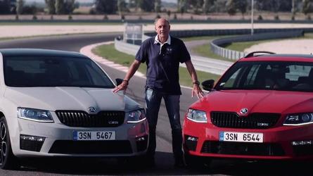 Hans Joachim Stuck hits the track in a Skoda Octavia vRS 230 [video]