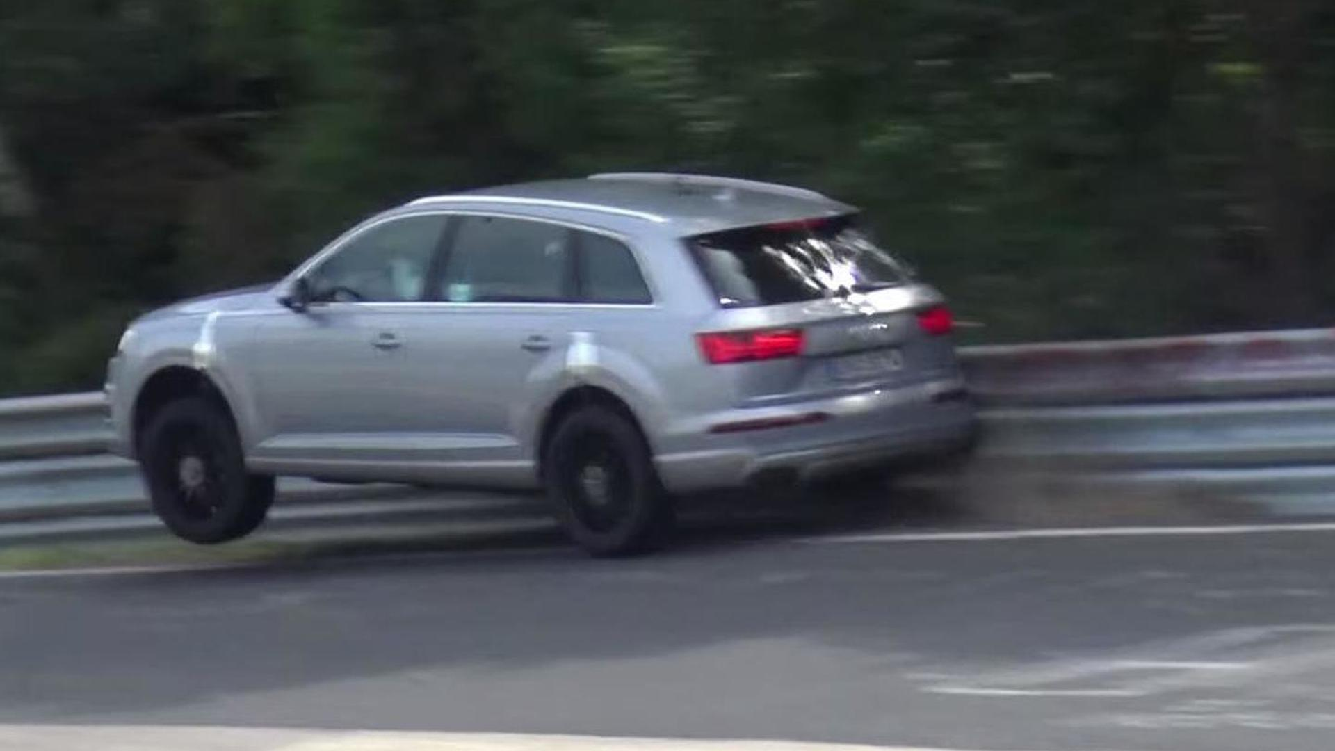 2016 Audi Sq7 Test Driver Pushes Too Hard And Hits Crash