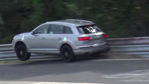 2016 Audi SQ7 test driver pushes too hard and hits crash barrier on the Nurburgring [video]