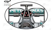 Tech analysis F1 teams seeking gains in roll-hoop design