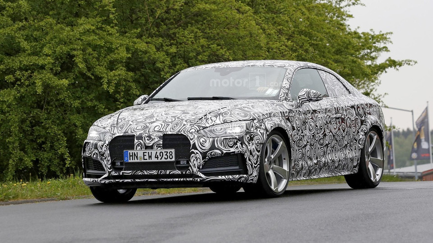 Audi RS5 spied near the 'Ring with turbo power
