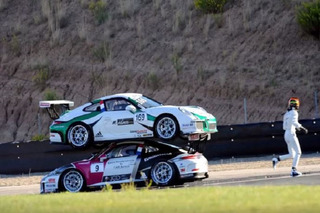 Watch a Crazy Crash End With One Porsche Atop Another