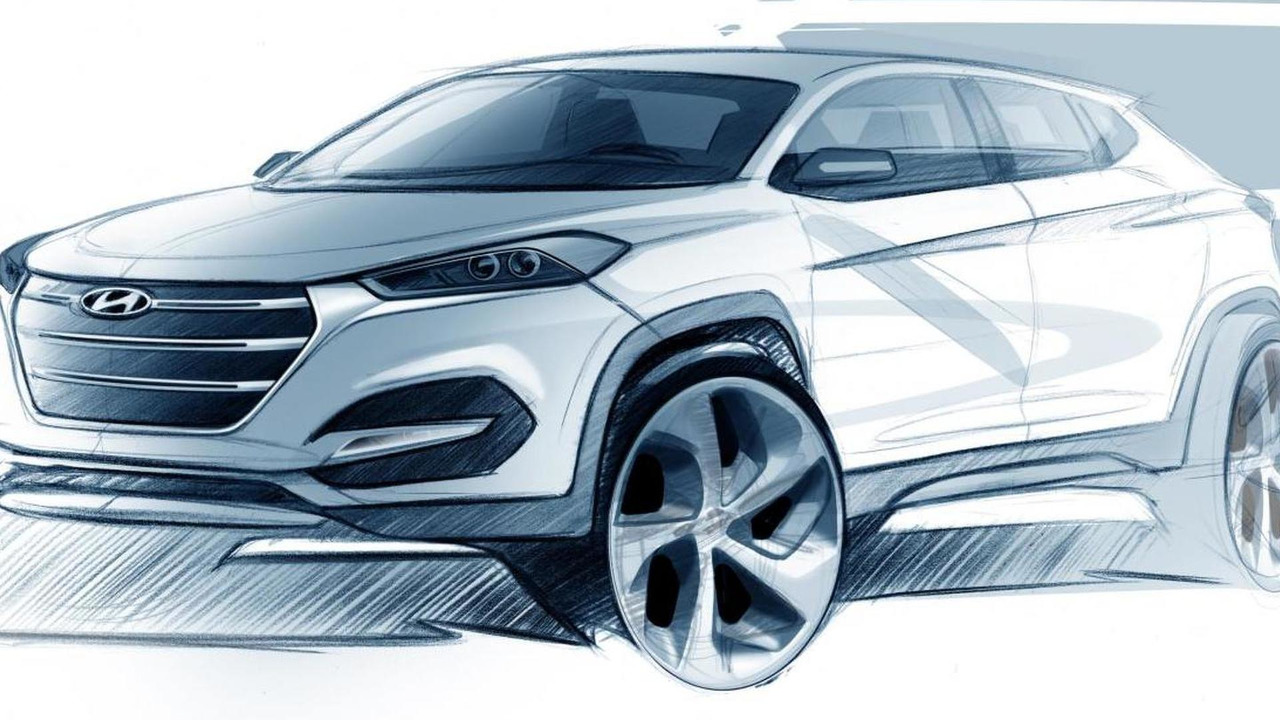 2016 Hyundai Tucson / ix35 design sketch