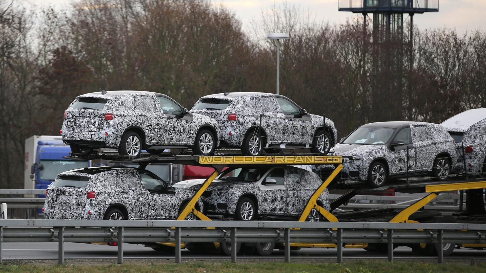 2016 BMW X1 prototypes spied on a trailer