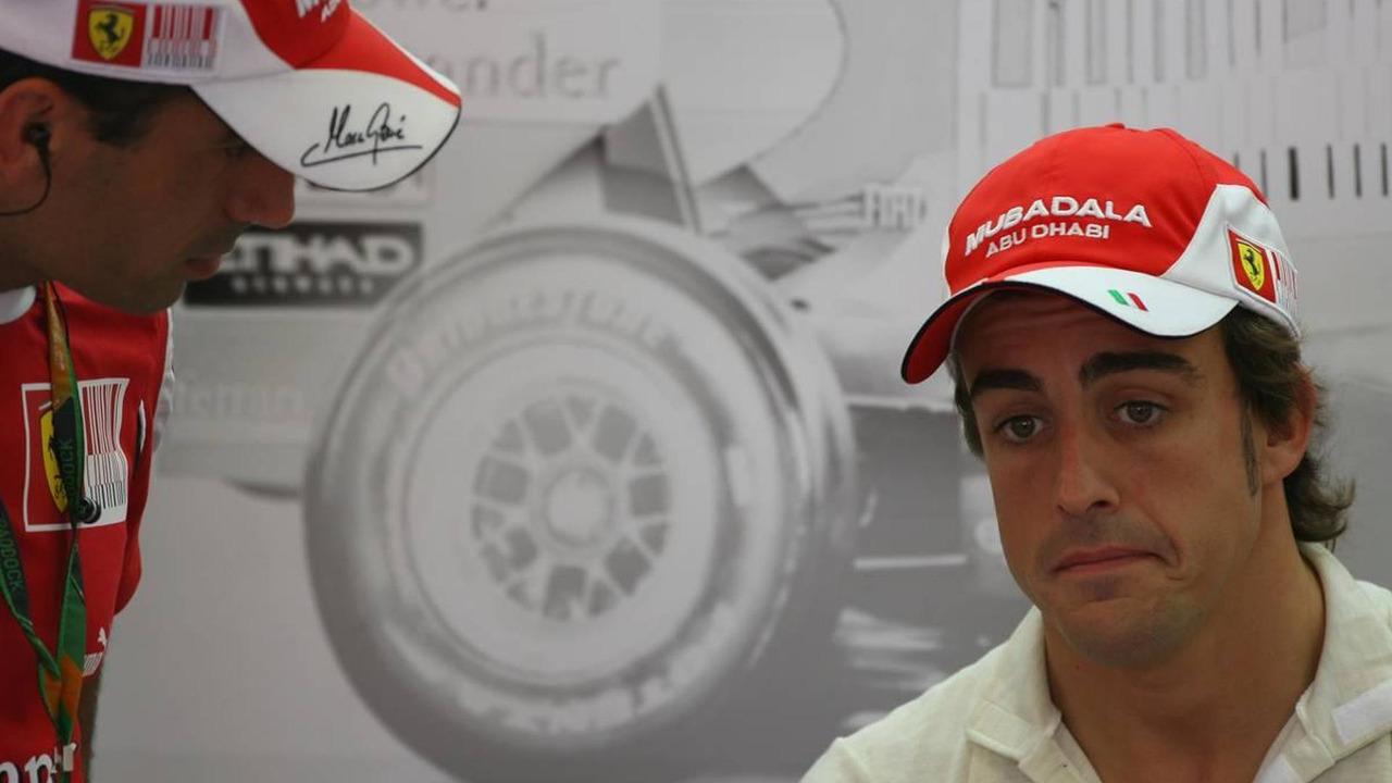 Marc Gene (ESP), Test Driver, Scuderia Ferrari and Fernando Alonso (ESP), Scuderia Ferrari, European Grand Prix, 26.06.2010 Valencia, Spain