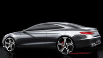Mercedes-Benz S-Class Coupe concept design sketch (not confirmed)