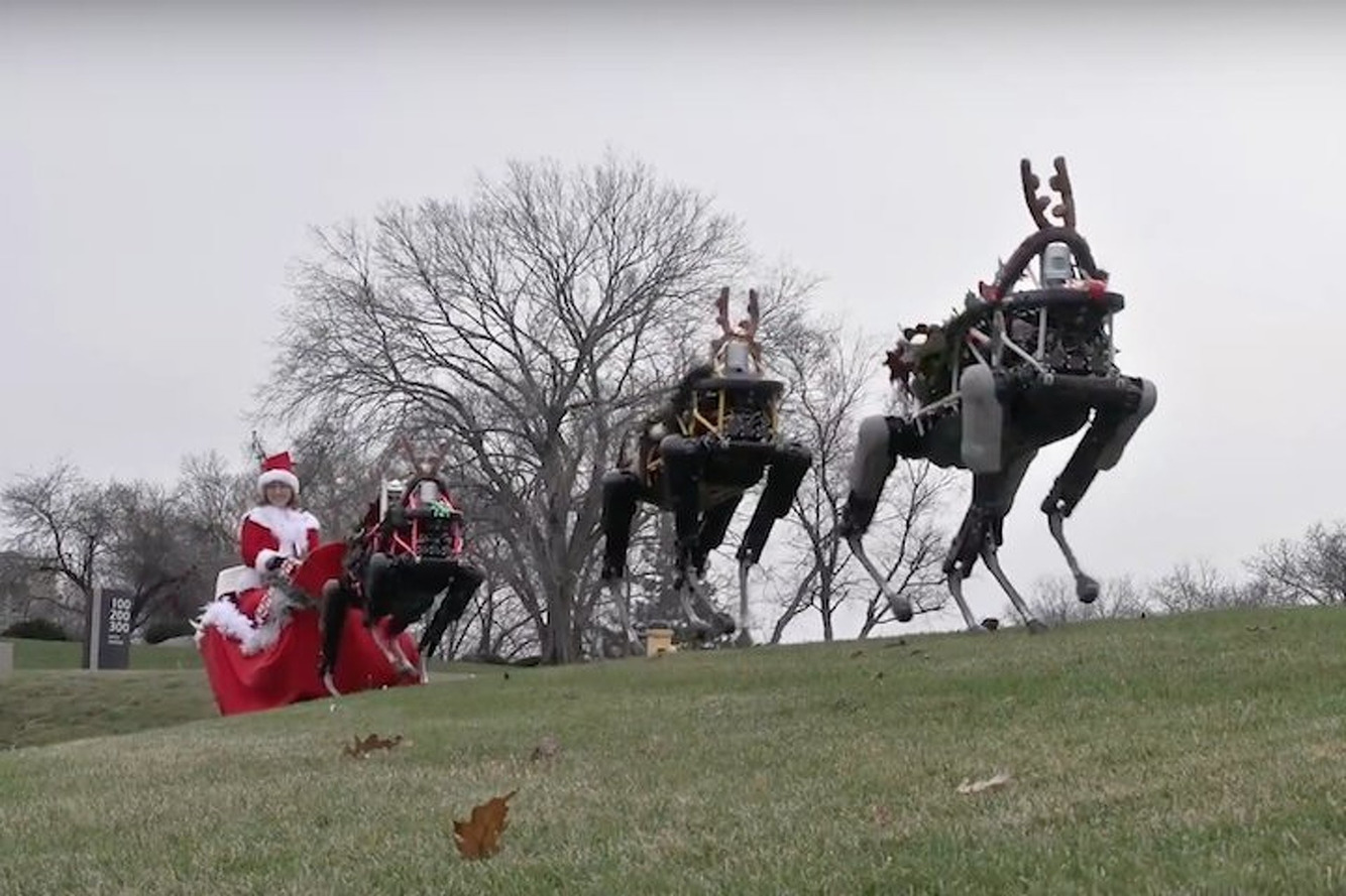 Watch These Robotic Dogs Pull a Sleigh and Frighten Everyone in the Process