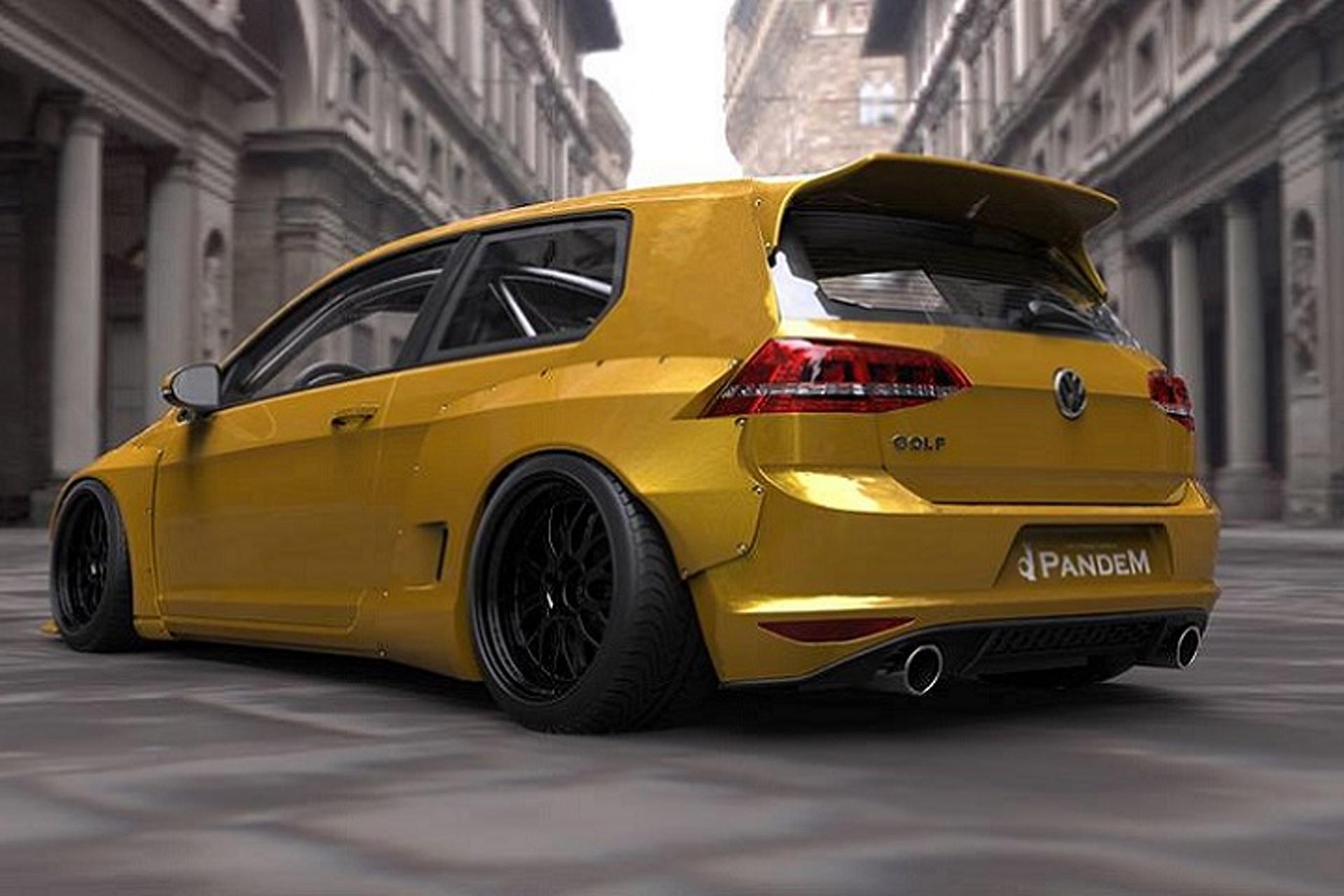 "Mk 7 Volkswagen Golf Gets ""Rocket Bunny"" Tuner Treatment"