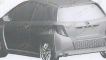 Toyota Yaris patent/trademark design drafts, 600, 25.07.2012