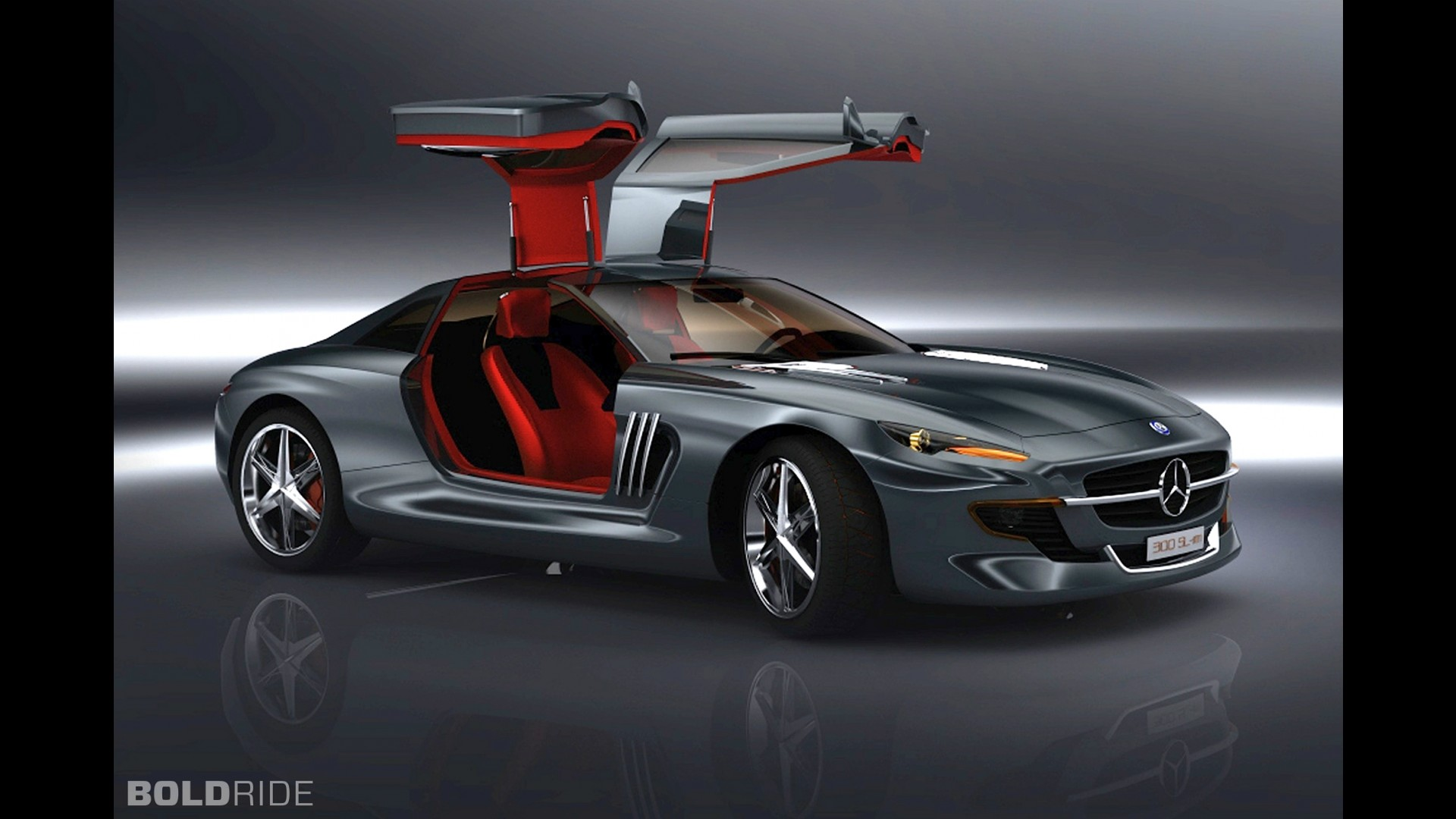 Mercedes benz 300 sl gullwing concept by slimane toubal for Mercedes benz 300 sl