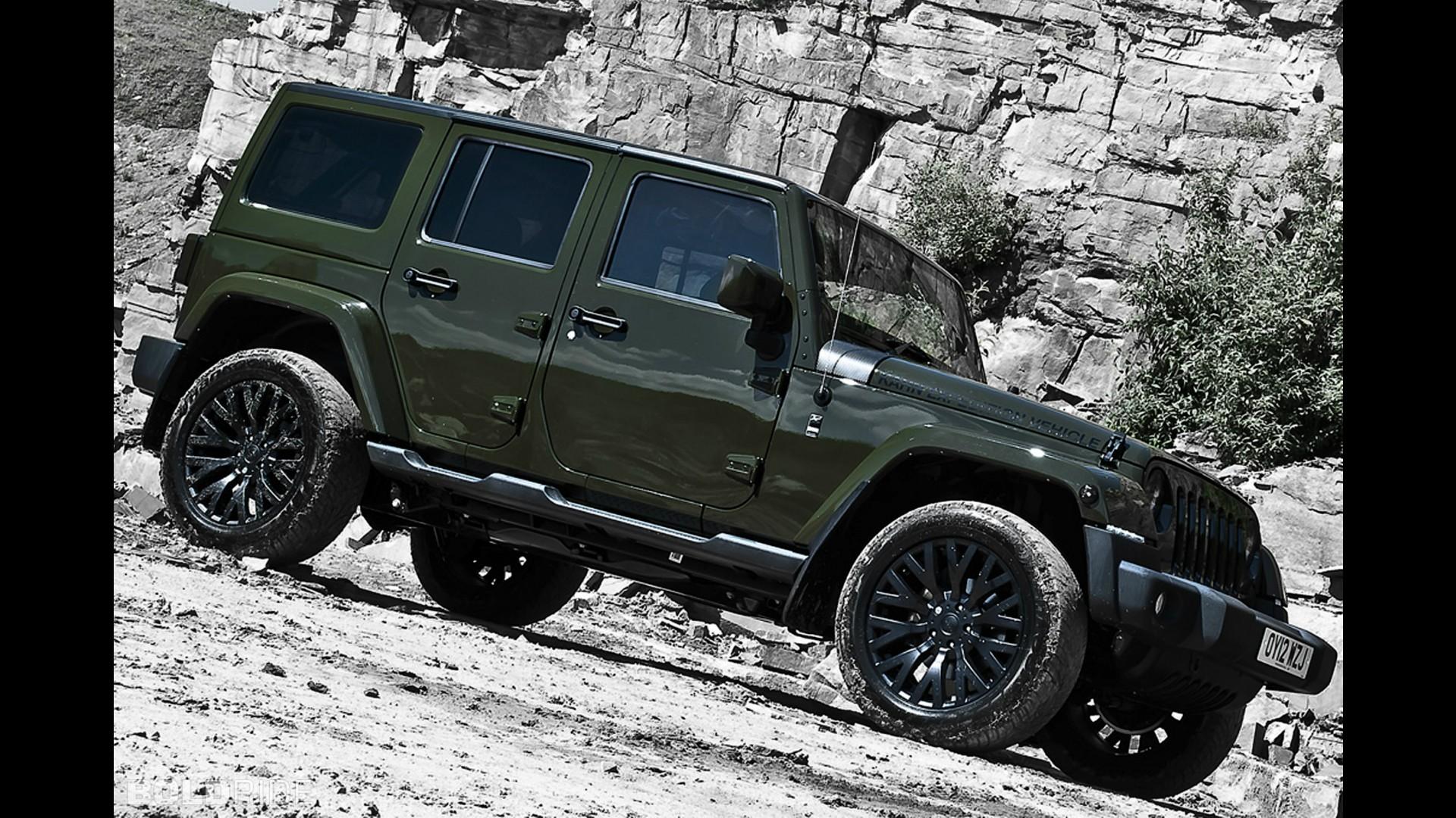 A. Kahn Design Jeep Wrangler CJ 300 Military Green